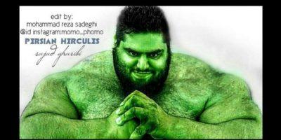 El Hulk de carne y hueso es iraní, tiene 24 años y se llama Sajad Gharabi Foto:Vía instagram.com/sajadgharibii