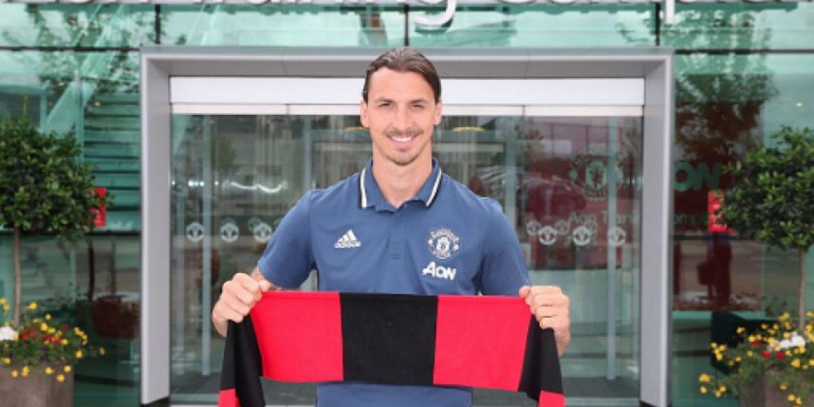 Zlatan Ibrahimovic habló como nuevo jugador del Manchester United Foto:Getty Images