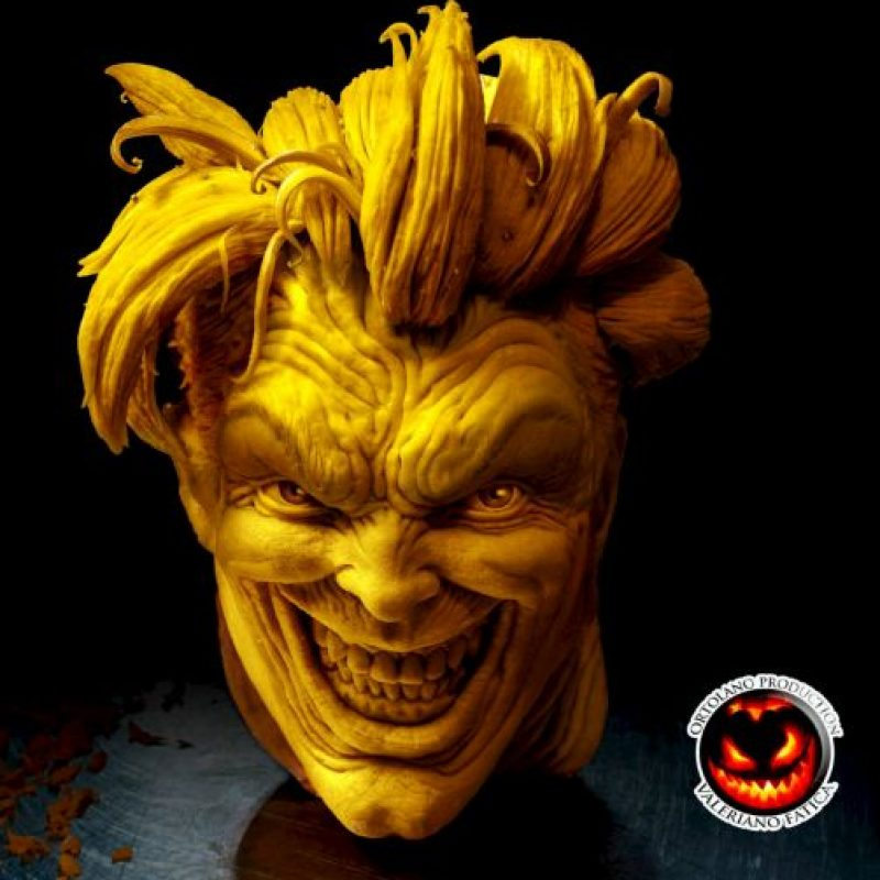 """The Joker"" (escultura en queso) Foto: Facebook/ValerianoFatica88"