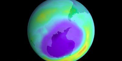 """Un grupo de investigadores encontró evidencia clara que indica que el agujero de la capa de ozono sobre la Antártida se está """"curando"""". Foto:NASA"""