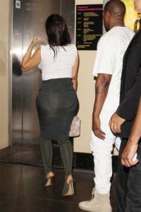 Así se veía Kim con esa figura extraña en su derrière Foto:Grosby Group