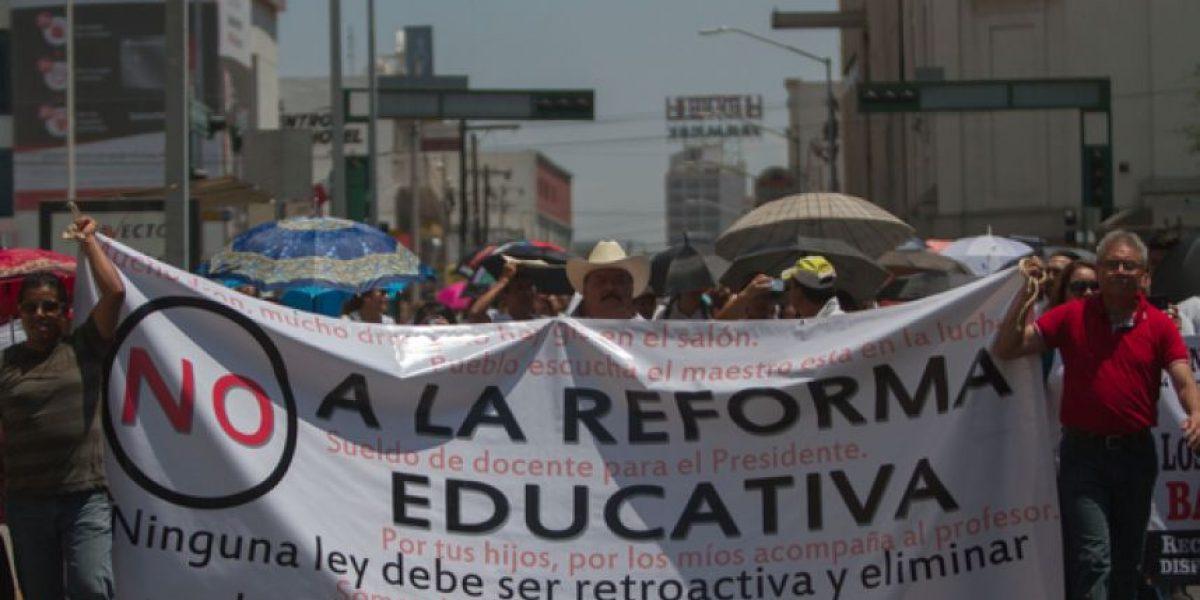 Maestros de NL realizan paro contra la Reforma Educativa