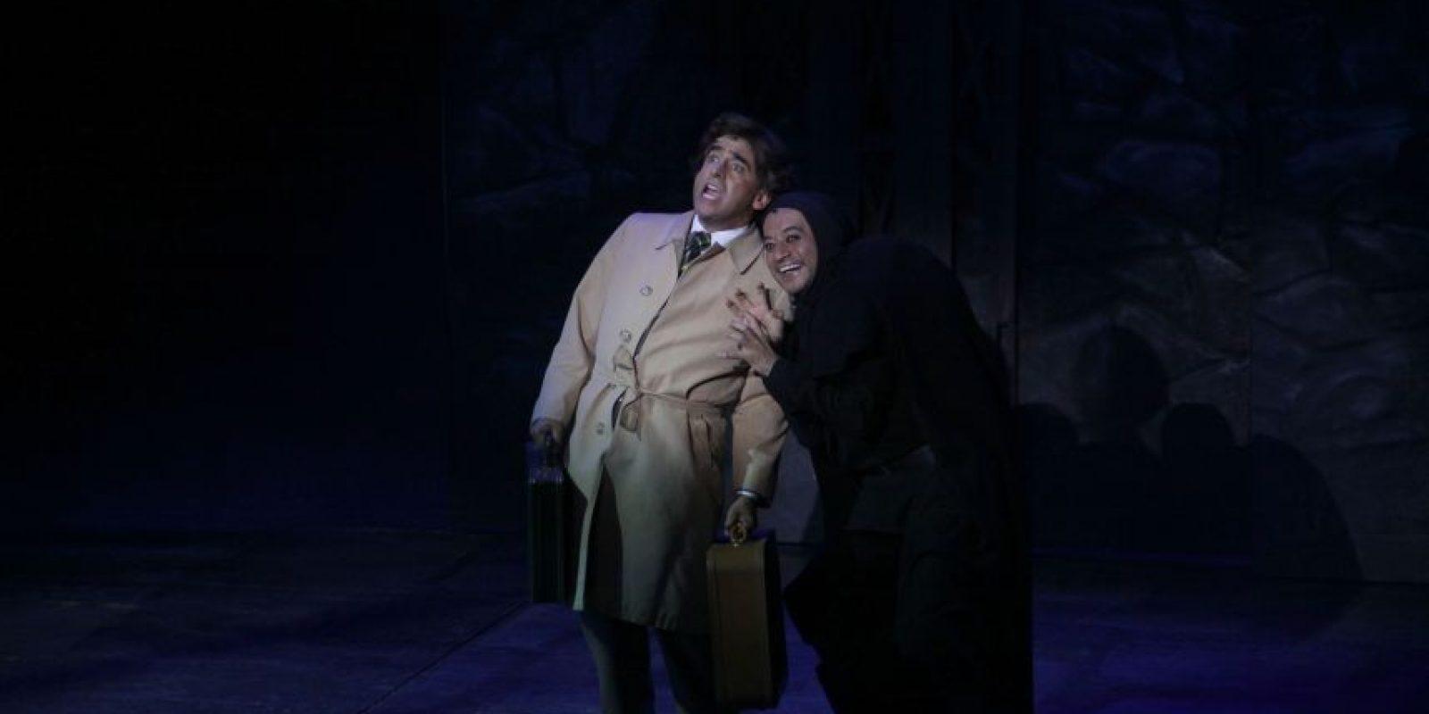 """El actor develó la placa por las 150 representaciones de """"El joven Frankestein"""" Foto:Cuartoscuro"""