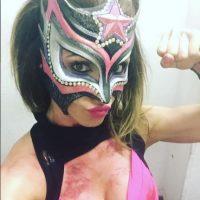Sexy Star con la máscara que su reconocida máscara. Foto:Instagram