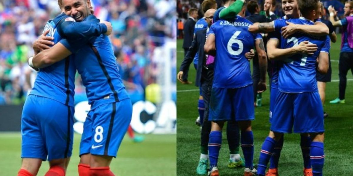 Francia golea 5-2 a Islandia y avanza a semifinales