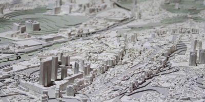 Cada centímetro equivale a 25 metros reales del suelo urbano Foto:Nicolás Corte / Publimetro