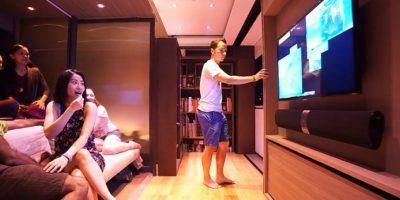 Le cabe todo, Tiene una sala de televisión. Foto:LAAB