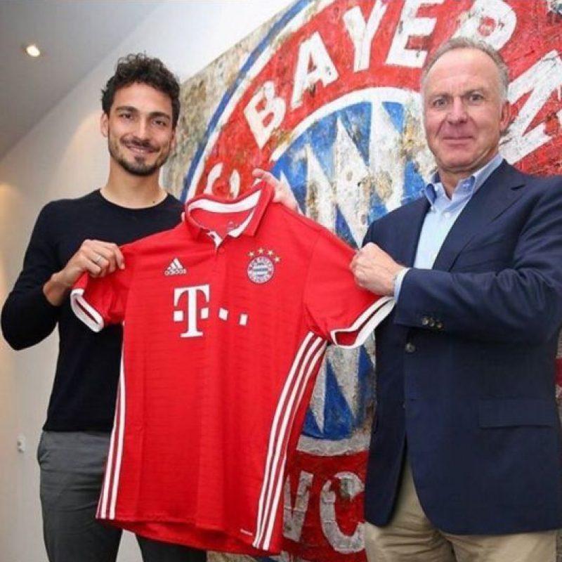 Mats Hummels dejó Borussia Dortmund para fichar en Bayern Munich Foto:Sitio web Bayern Munich