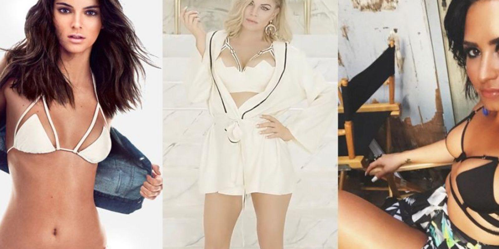 Kendall Jenner, Fergie y Demi Lovato Foto:GQ Magazine, Vevo, Instagram @DemiLovato
