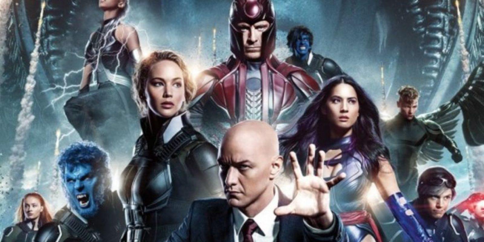 """En """"X- Men Apocalipsis"""" se ven a los personajes mucho más jóvenes que en la primera película. Foto:vía Fox"""