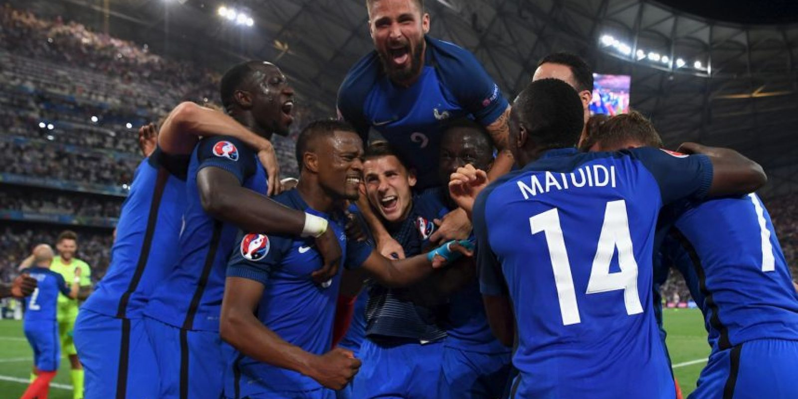 """Francia venció por 2 a 0 a Alemania en la semifinal y buscará el título en """"su"""" Eurocopa Foto:Getty Images"""
