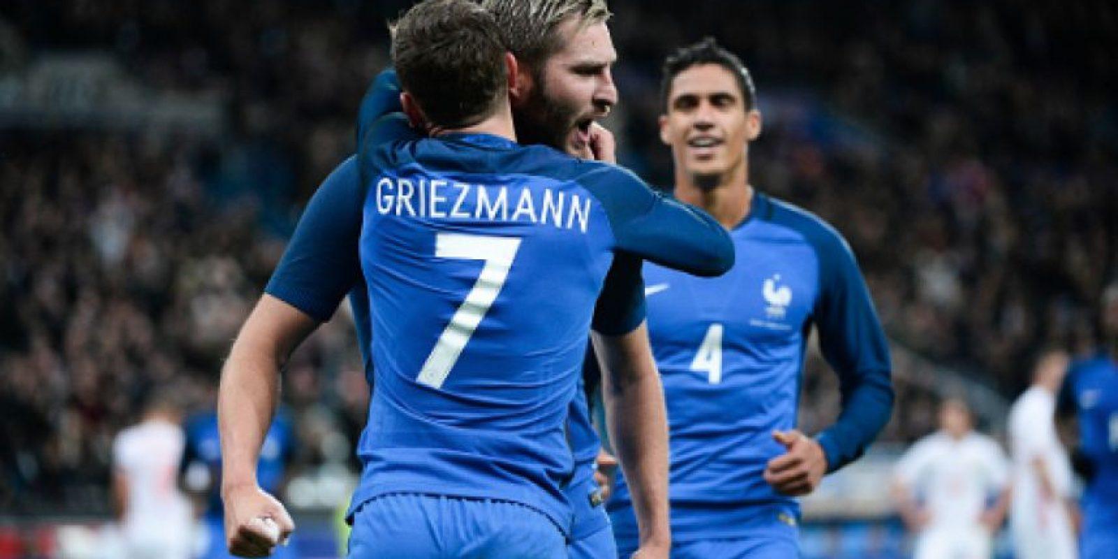La foto viral de André-Pierre Gignac con Antoine Griezmann Foto:Getty Images