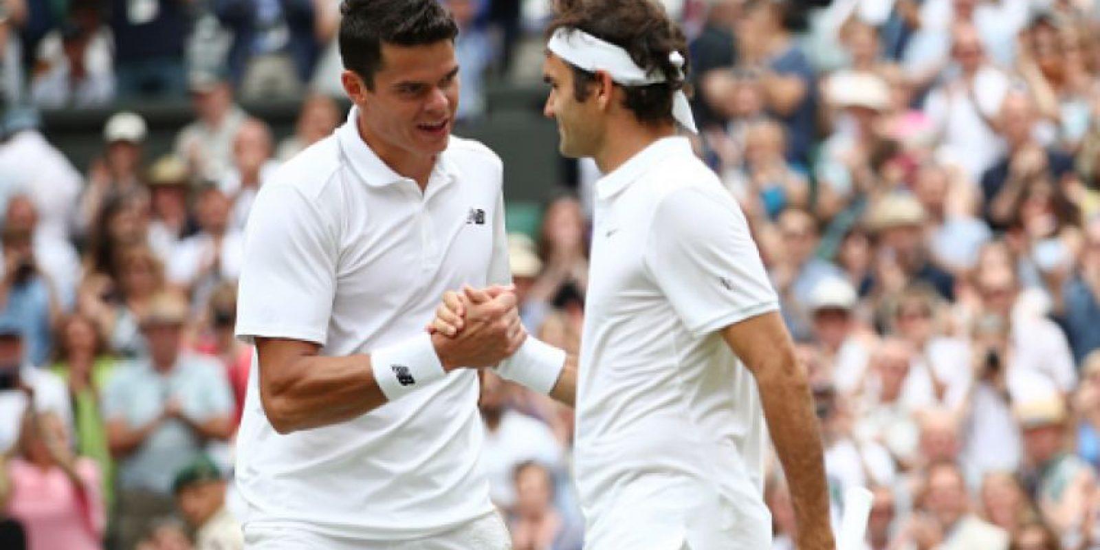 Federer es eliminado de Wimbledon por Milos Raonic Foto:Getty Images