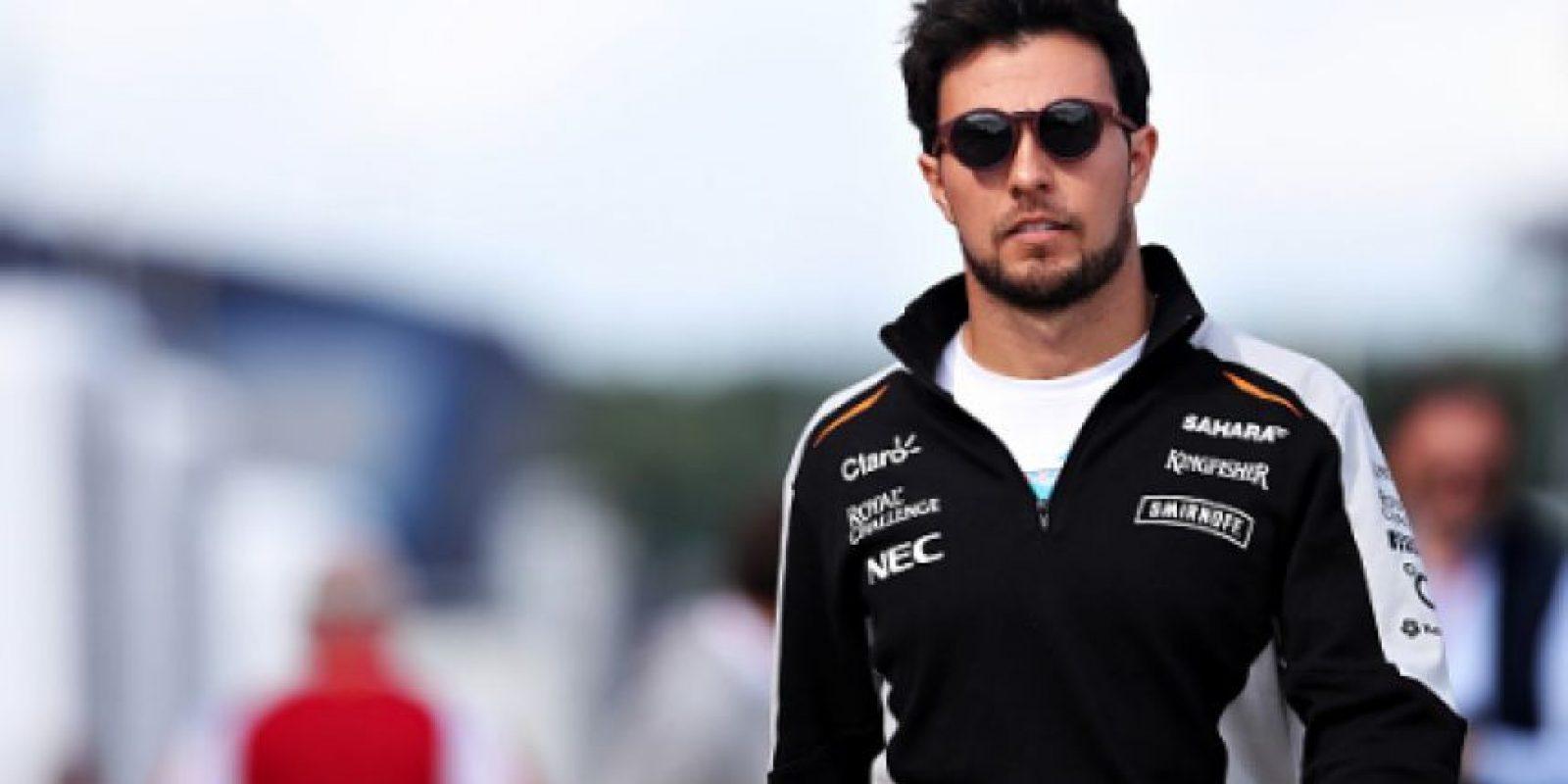 Sergio Pérez renovó contrato con Force India Foto:Getty Images