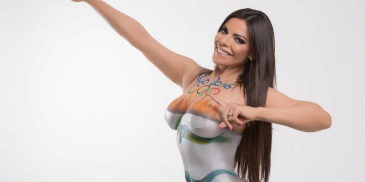 FOTOS: Miss Bumbum enciende los Juegos Olímpicos con candente body paint