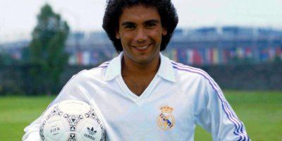 Llegó al Real Madrid con 27 años de edad, en 1985. Foto:Twitter