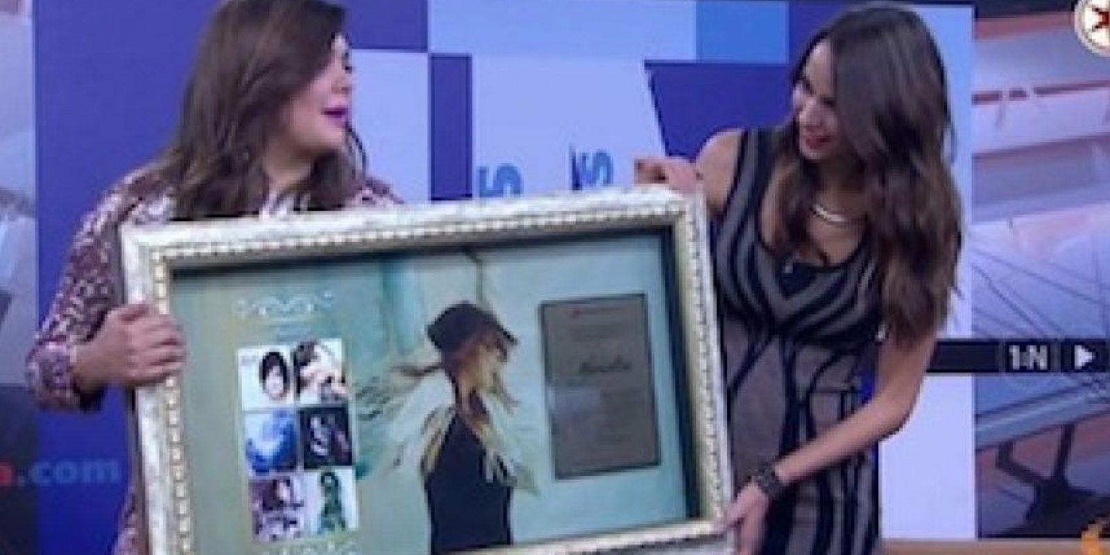 Televisa reconoce a Yuridia por sus logros en Tv Azteca Foto:Televisa