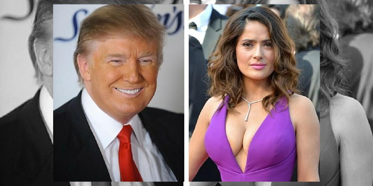 Trump paga 120 mil dólares por una cita con Salma Hayek