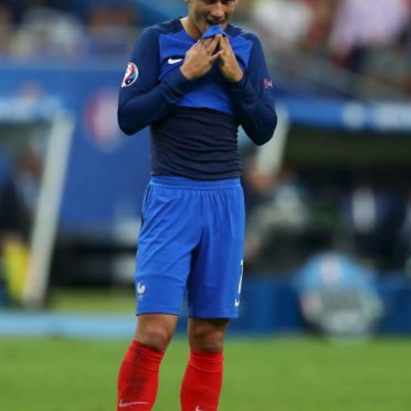 Antoine Griezmann fue incpaz de marcar en la final ante Portugal Foto:Getty Images