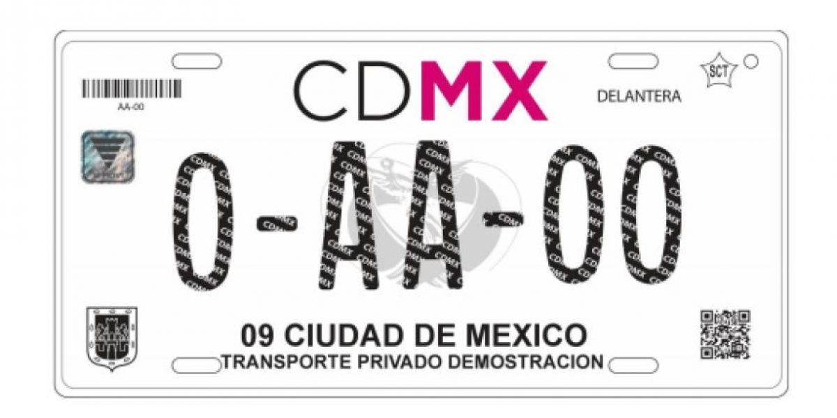Así serán las nuevas placas vehiculares de la CDMX
