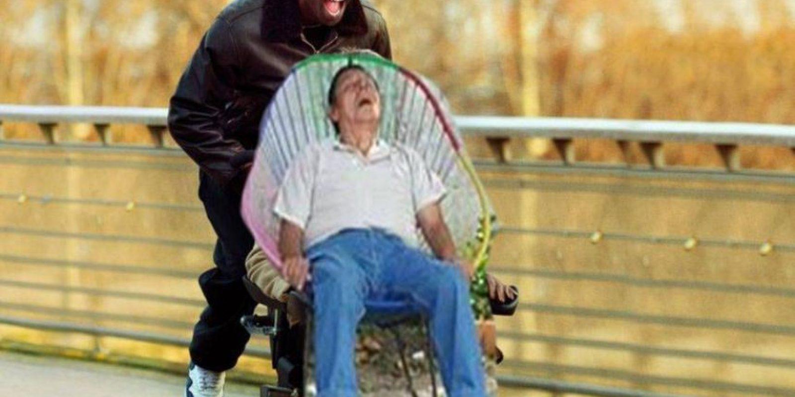 Los usuarios colocaron al señor en las situaciones mas raras Foto:Especial