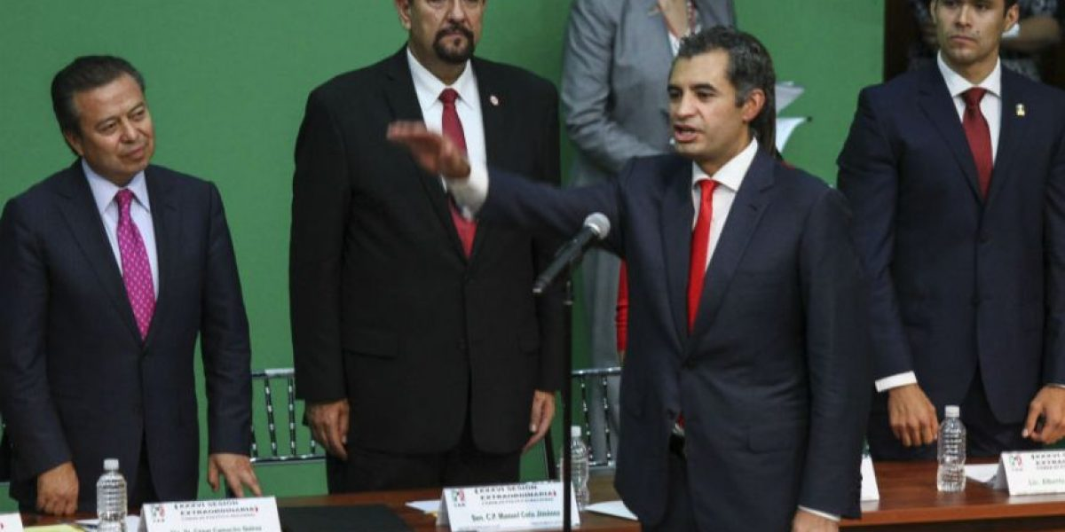 Ochoa Reza rinde protesta como nuevo presidente del PRI