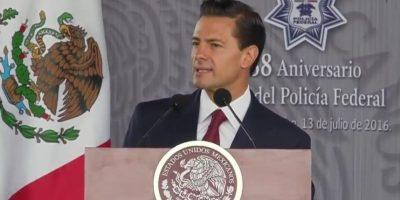 El mandatario encabezó la ceremonia por el Día del Policía Foto:@PresidenciaMX