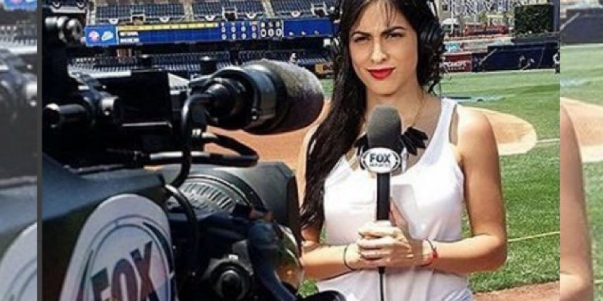 VIDEO: ¡Cerca! Conductora de Fox Sports casi es golpeada por pelota de beis