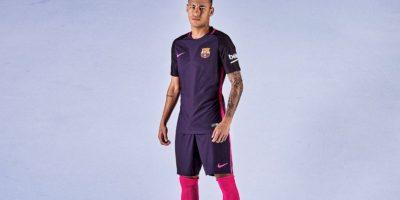 Será primera vez que se utilice el color púrpura en una camiseta de Barcelona Foto:Twitter FC Barcelona