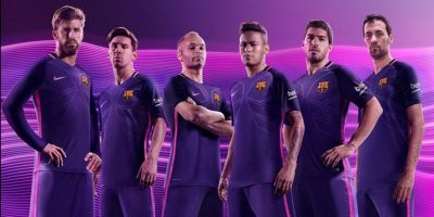 Además, tendrá un tejido estampado con formas angulares y geométricas Foto:Twitter FC Barcelona