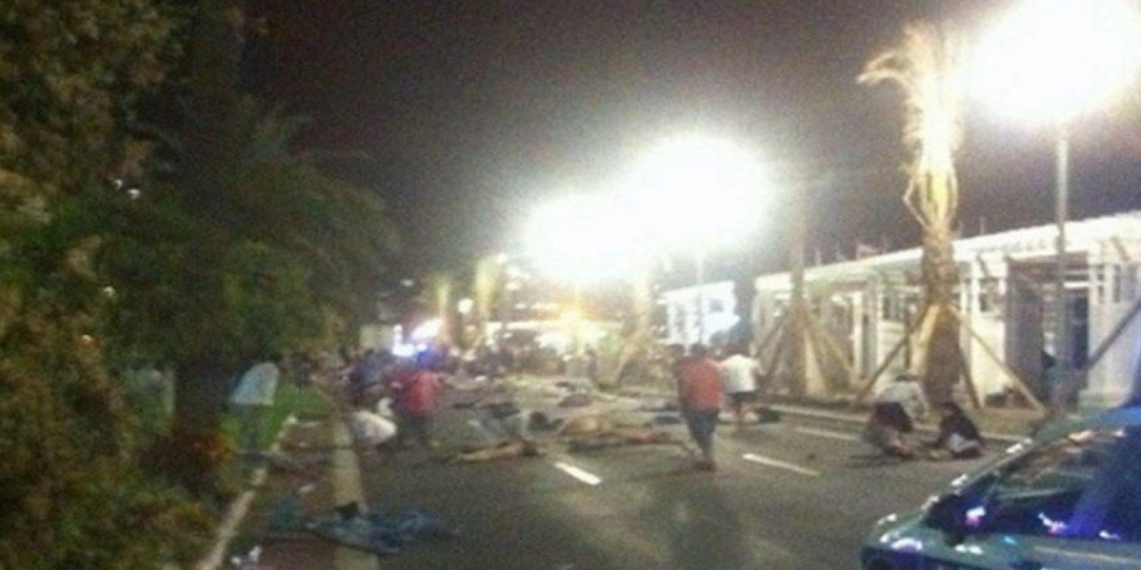 En Twitter y Facebook circulan varios videos del momento justo del atentado. Foto:Twitter