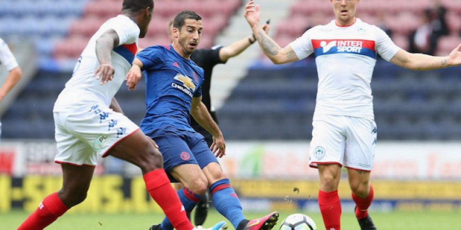Mkhitaryan lució en su debut con los ingleses. Foto:Getty Images