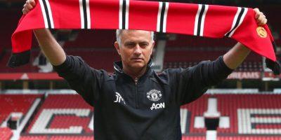 """""""Mou"""" ya tuvo su primer partido comon DT del United. Foto:Getty Images"""