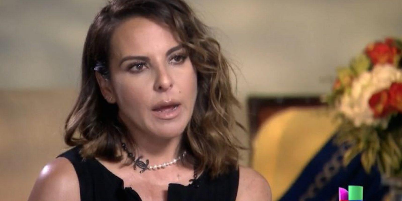 Kate del Castillo dio una entrevista a Jorge Ramos en California Foto:Especial