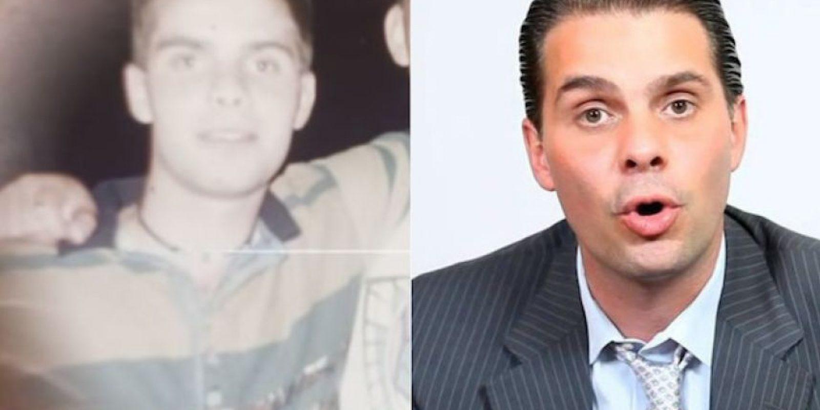 FOTOS: El antes y después de Christian Martinoli Foto:YouTube