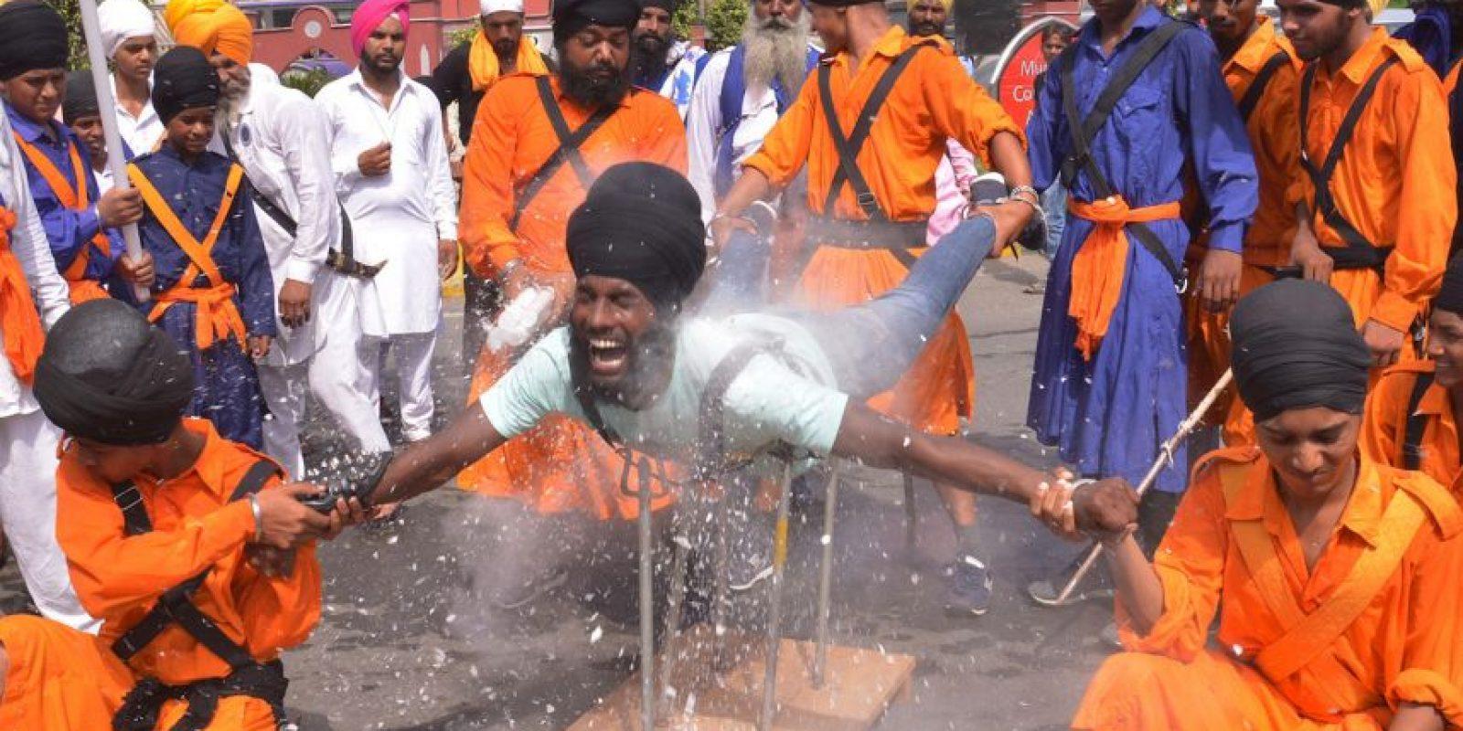 Guerrero religioso en India. Foto:AFP