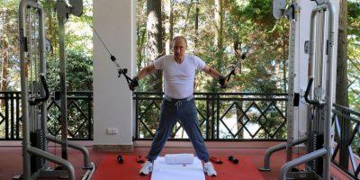 El presidente de Rusia, Vladimir Putin haciendo ejercicio. Foto:AFP