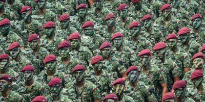 Parada militar en Malasia. Foto:AFP