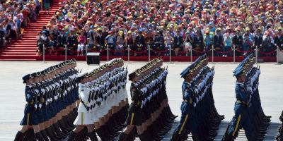 Parada militar en China. Foto:AFP