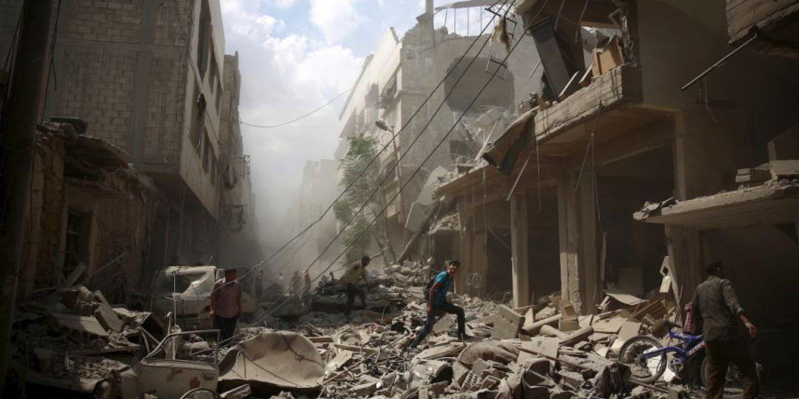 Siria tras ataques aéreos de rebeldes. Foto:AFP