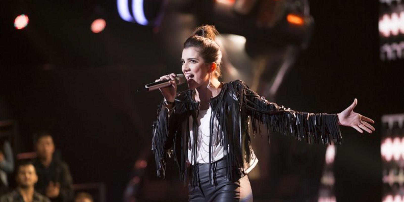 Valentina Batta interpretó Sweet child of mine en el Top 3 Foto:Televisa