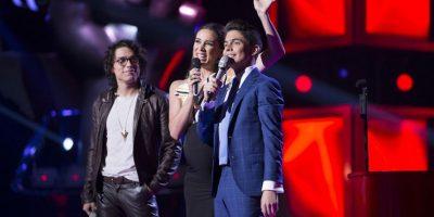 Manu y Lucho interpretaron Perdóname Foto:Televisa