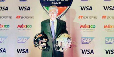 El director general de la NFL en México, Arturo Olivé, anunció la fecha de venta de boletos para el encuentro de temporada regular. Foto:Twitter