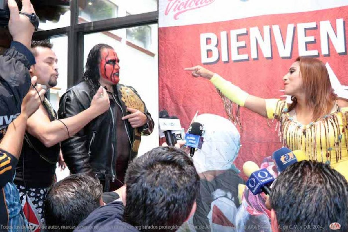 Averno y Chessman vs las hermanas Apache, otro duelo de Triplemanía Foto:AAA
