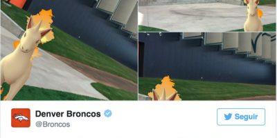En los estatadio de Estados Unidos, los pokémon han aparecido por todos lados Foto:Twitter Denver Broncos