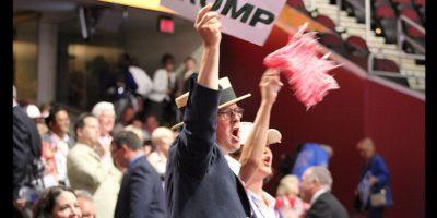 Gritos de apoyo reinaron en la convención a favor de Danald Trump. Foto:Publimetro