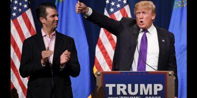 Donald Trump Jr. emitió un mensaje durante la Convención Nacional Republicana donde se mostró seguro. Sus seguidores argumentan que podría seguir los pasos políticos de su padre. Foto:Getty Images