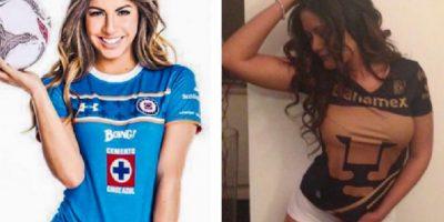 Fainus y Gomar, las guapas representantes de Cruz Azul y Pumas. Foto:Especial