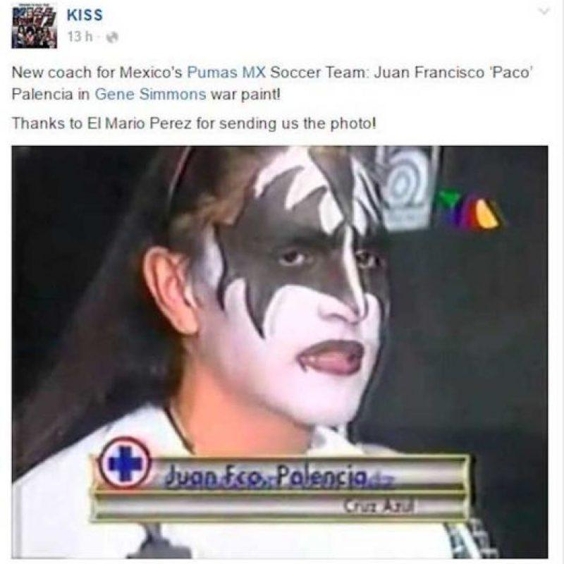 """10.- Fanático de Kiss: Palencia es un """"rockero"""" declarado ya que le gustaba pintarse las uñas de negro, usaba el pelo largo (todavía lo hace) y festejaba sus anotaciones simulando tocar una guitarra eléctrica. Es admirador del grupo Kiss. Foto:Especial"""