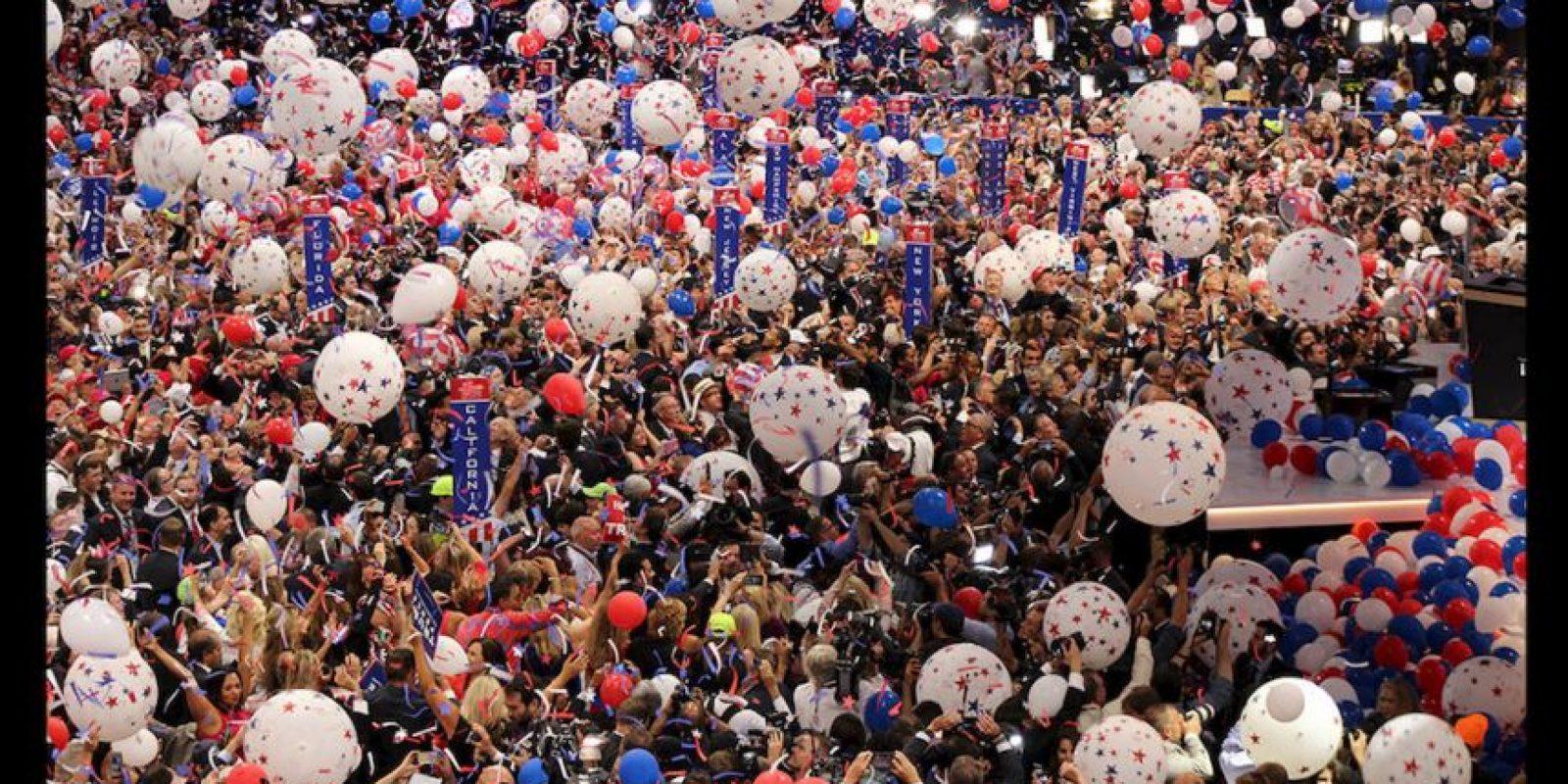 Donald Trump ofreció su primer mensaje como el indiscutible candidato republicano a la presidencia de Estados Unidos. Foto:Publimetro